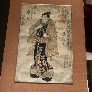 Antique Portrait Kabuki Actor Shijaku
